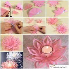 Dekoracje z papieru - zrób ozdoby na świece - Pomyslowi.net