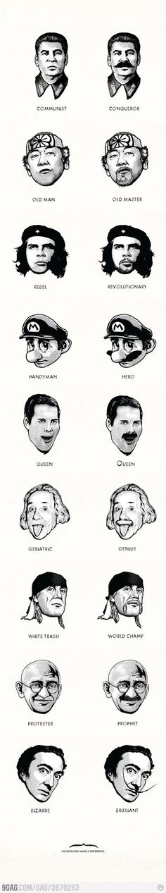#Mustaches make a difference...