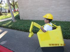 Devan wanted to be an excavator for Halloween so i had to make it :)