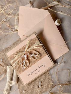 WEDDING INVITATIONS beach/marine #4lovepolkadots #rusticwedding #forestwedding #rusticinvitations #wood #ecowedding #weddinginvitations #invitations #weddingideas #weddingstyle #bride #bridetobe #burlap #rustic #marine #beach #seawedding