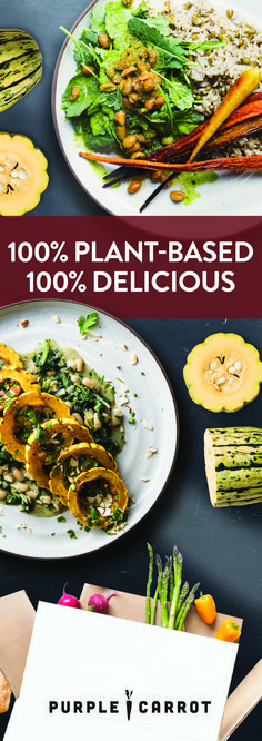 Delicious plant-based recipes and fresh ingredients delivered weekly. $20 Off.