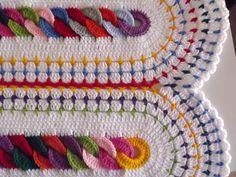 Chains Blanket By BlueSkyOverTheClouds - Barbara CM - Free Crochet Pattern  - (ravelry) ༺✿ƬⱤღ  https://www.pinterest.com/teretegui/✿༻