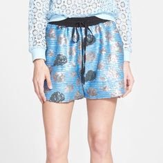 Sister Jane 'Storm Cloud' Sequined Shorts New with tags!  Multicolored sequins form the cool cloud pattern of these sporty-chic shorts fitted with an elasticized drawstring waistband. They are lined. Urban Outfitters Shorts