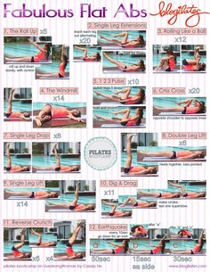 Pilates - I do most of these and I feel pretty awesome afterwards...except the reverse crunch, always afraid I will hurt my back!