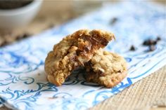 Snickers Stuffed Loaded Peanut Butter Oatmeal Cookies Final 3 by laurenslatest, via Flickr