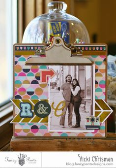 "This art that makes me happy: Fancy Pants Designs 8x8 clipboard ""R & N"" Flutter Collection"