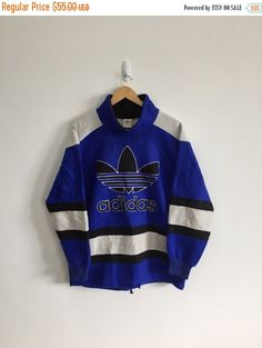 New Year Sale 20% Off Vintage ADIDAS Front Big by FOREVERANARCHY