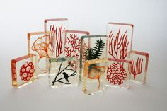 New embroidery sculptures in resin by Meredith Woolnough