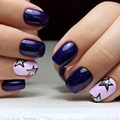 Want some ideas for wedding nail polish designs? This article is a collection of our favorite nail polish designs for your special day. Star Nail Designs, Nail Polish Designs, Nails Design, Hot Nails, Hair And Nails, Fancy Nails, Pretty Nails, Wedding Nail Polish, Summer Gel Nails
