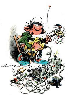 Gaston ingénieur du son... Franquin