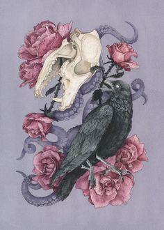 Shadow Art Print by chloeyingst Dessin Old School, Frida Art, Gothic Art, Aesthetic Art, Dark Art, Cool Drawings, Cute Art, Art Inspo, Amazing Art