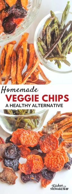 Recipes Snacks Salty Looking for a real food alternative to potato chips and french fries? Try these homemade veggie chips and crispy green beans! The perfect healthy snack. Clean Eating Recipes, Clean Eating Snacks, Raw Food Recipes, Veggie Recipes, Vegetarian Recipes, Snack Recipes, Healthy Eating, Healthy Recipes, Dehydrated Food Recipes