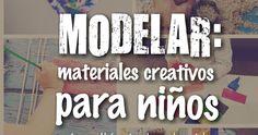 Hoy voy a hablarte de algunas alternativas que les podemos ofrecer a los peques para modelar . La creatividad de los niños es inf...
