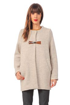 Manteau grosse maille laine Northland