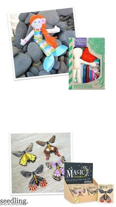 Make your own mermaid doll & butterflies.