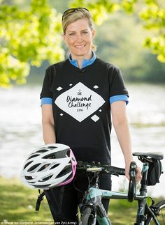 The Countess is currently training to cycle from the Palace of Holyroodhouse in Edinburgh to Buckingham Palace in September on behalf of The Duke of Edinburgh's Award to mark its 60th anniversary
