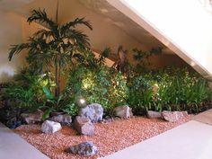 tropical indoor garden in thailand