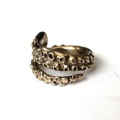 Octopus Tentacle Ring in Solid Bronze by mrd74 on Etsy, $55.00