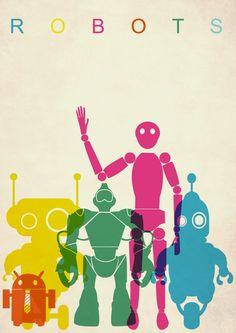 Poster Robots via Etsy