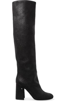 Shop on-sale Parveen coated-suede knee boots. Browse other discount designer High Heel Boots & more luxury fashion pieces at THE OUTNET Thigh High Boots, High Heel Boots, Knee Boots, Heeled Boots, Lv Shoes, Designer High Heels, Boots For Sale, Thigh Highs, Black Boots