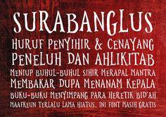 New free font 'Surabanglus' by Gunarta · Free for commercial use · #freefont #font #freefont