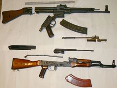 For some stupid idiots who say that #AK #AK_47 #Kalash (#avtomat_kalashnikov) and #Stg (#Stg_44) are the same :))))) It's absolutely different systems.