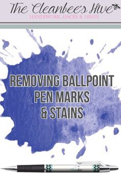 Regular cleaning products not removing ballpoint pen marks and stains off your furniture? Check out our blog for a solution!!