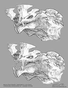 Kaiju concpet design sketch by Guy Davis