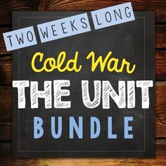 Cold War: 2-Week UNIT from The Sweetest Thing on TeachersNotebook.com -  (175 pages)  - This unit includes 2-week formal lesson plans (no prep), 7 leveled reading passages (21 total), hands-on board game, whole class activity, simulation, lapbook foldable notes, and center rotations.