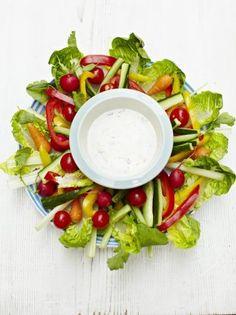 http://www.jamieoliver.com/recipes/vegetables-recipes/minty-yoghurt-dip/