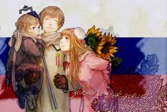 Ish De Baby Russia, Ish De Russia, and Ish De Gender Bender Russia :3 How cute ;O