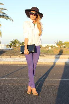 pantalon morado