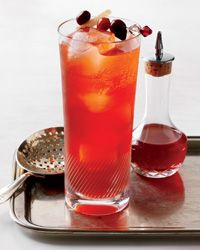 Cranberry-Spice Cocktail Recipe - Fall flavors are created with the combination of tart cranberries, earthy bitters, and Aperol.