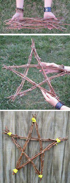 3-dimensional art, Grapevine star wreath | ClothPaperScissors.com