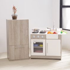 a9e18d4dd5d Classic Playtime 2 pc. Classic Wooden Play Kitchen Set - Gray ...
