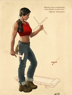 """""""Never trust a mechanic who drives a new car."""" ~ Mercy Thompson #TheMercedesThompsonSeries written by Patricia Briggs. Art by Lee Moyer"""