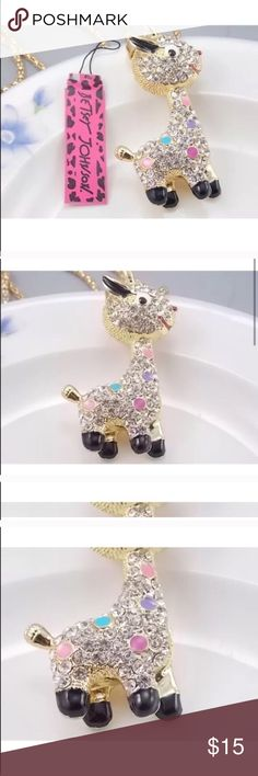 Betsey Johnson Necklace Don't know what it is donkey ?? New with tag Betsey Johnson Jewelry Necklaces