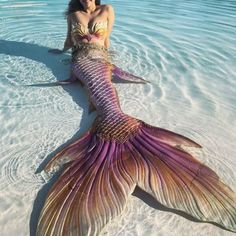 Mermaid relaxing on beach Fantasy Mermaids, Real Mermaids, Mermaids And Mermen, Mermaid Cove, Siren Mermaid, Tattoo Mermaid, Mermaid Beach, Ocean Beach, Realistic Mermaid Tails