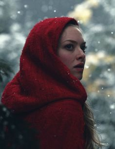 amanda seyfried, red, and red riding hood image