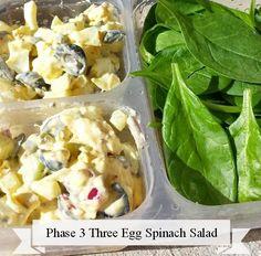 Phase 2 Three Egg Salad #fastmetabolismdiet