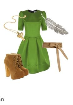 Peter pan outfit! Besides the shoes.... I would totally wear this!