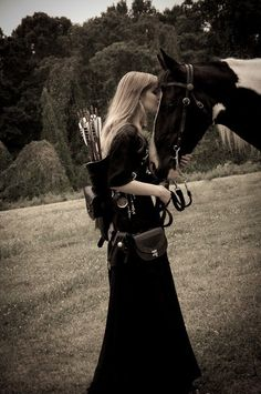 Celt female and her horse.