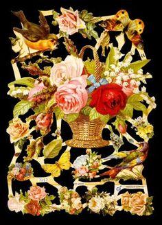 Poezie plaatjes nostalgisch rozen / vogels