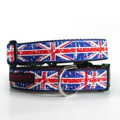 Union Jack Dog Collar. @Emma Fewkes !!