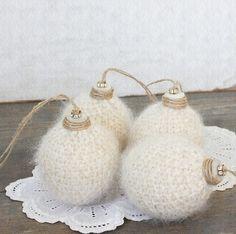 Vintage Inspired Repurposed Wool Christmas Balls