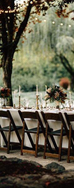 Outdoor wedding reception #wedding