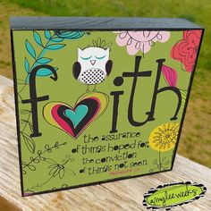 Christian Art, Scripture Art, Wise Reminders - Faith bible verse, art block (size-5x5)