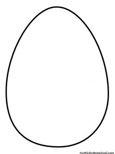Printable full page large egg pattern use the pattern for crafts easter egg templet easter egg pattern and shiny paint recipe pronofoot35fo Images