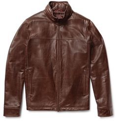 This <a href='http://www.mrporter.com/mens/Designers/Isaia'>Isaia</a> jacket is exemplary of the label's suave Neapolitan style. Crafted in Italy from chocolate-brown washed-leather, it has the appeal of a modern heirloom. The well-hidden hood makes it a great choice for unpredictable weather.