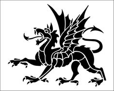 Dragon stencil from The Stencil Library BUDGET STENCILS range. Buy stencils online. Stencil code SS45.